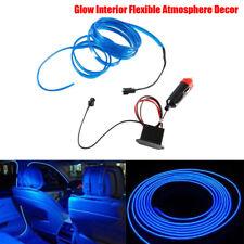 Blue 2M Car LED EL-Wire Cold light lamp Neon Lamp Interior Atmosphere Light 12V