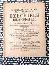 1720 BOOK OF EZEKIEL Philological & Theological BIBLICAL DISSERTATION in Latin