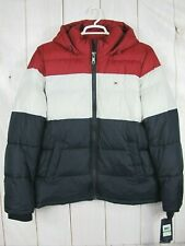 Tommy Hilfiger Hooded Colorblock Puffer Jacket NWT ~ Size L