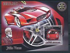 COCHES / CARS - GUINEE-BISSAU 2005, Ferrari MNH sheet