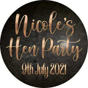 24 Personalised Glossy Hen Do Hen Party Wedding Celebration Stickers Labels Bag