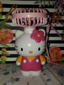 Hello Kitty Portable Battery Mini Fan | Excellent Condition | RARE | TESTED !!!