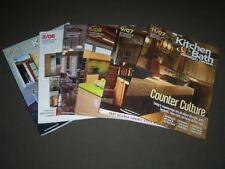 2007-2008 KITCHEN & BATH DESIGN NEWS MAGAZINE LOT OF 6 - GREAT COVERS - PB 908