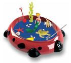 Ladybug Sandbox Kids Plastic Outdoor Sandbox + Cover Playground Red