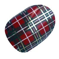 SCOTTISH Red Tartan Scotland Flag Nail Wraps Vinyl Salon Quality Stickers Chix