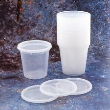 Food Container Clear Plastic Soup Deli Container With Lid Storage 80 240 Pack