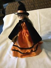 Wicked Witch Sleepy Eyed doll in Halloween garb