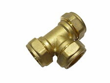 22mm Compression Equal Tee   Brass Plumbing Fitting