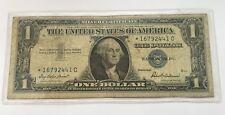 1957 STAR $1 DOLLAR BILL SILVER CERTIFICATE BLUE SEAL NOTE U.S CURRENCY