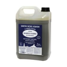 SAVON NOIR LIQUIDE DE MARSEILLE 5L à l'huile d'olive nettoie maison MARIUS FABRE