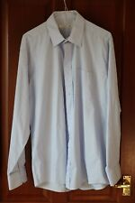 Primark essential Men's shirt, pale blue, 16.5 collar, Polyester/cotton