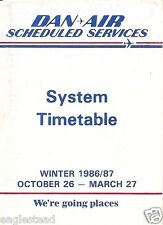 Airline Timetable - Dan-Air - 26/10/86 - System - S