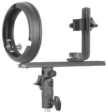 Flash bracket T-Type adjustable stand adapter with Bowens S-type mount