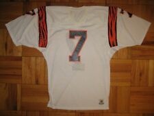 1980s Authentic Bengals Boomer Esiason jersey Sand-Knit White PRO-Line