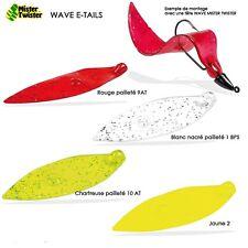 Leurre souple Mister Twister Wave Tail 8cm jaune par 5