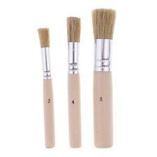 3 Pièces / ensemble Ronde Poignée En Bois Peinture À L'huile Acrylique