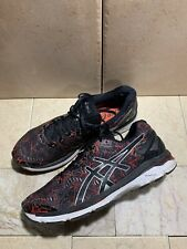 Asics Gel Kayano 23 Men's Black Red Lace Up Running Shoes Size 11 T646N