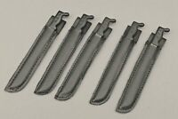 "5 21ST CENTURY TOYS MACHETES WITH BLACK SHEATHS FOR 1/6TH SCALE OR 12"" FIGURES"