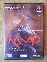 Kengo : Master of Bushido (Sony PlayStation 2, 2001, PAL, PS2, Game,  Manual)
