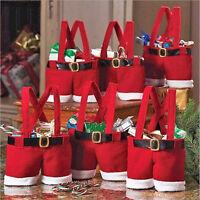 Fantastic Xmas Christmas/Santas Pants Candy Gift Bag/Small Sack/Stocking Handbag