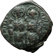 JUSTIN II & SOPHIA 565AD Constantinople Follis Ancient Byzantine Coin i66069