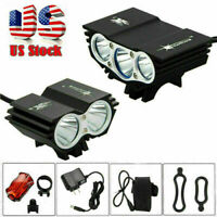 15000LM XM-L T6 LED Zoomable Front Bicycle Light Headlight Cycling Rear Lamp