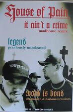 "40x60"" HUGE SUBWAY POSTER~House of Pain 1994 It Ain't a Crime Same as Ever Was~"