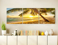 "3PC 16"" Abstract Wall Decor Art Oil Painting on Canvas NO frame Sunset Beach 41"