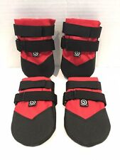 Ultra Paws Rugged Dog Boots Shoes Small - Red/Black (A5)