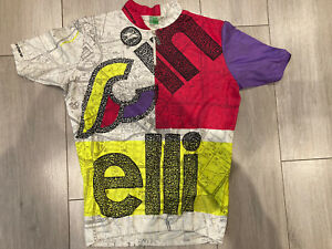 Vintage Cinelli Giordana Cycling Jersey Top Shirt Eroica Retro Hipster