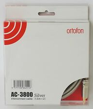 GENUINE Ortofon AC-3800 SILVER Interconnect Cable RCA 1.5m Pair (Made in Japan)