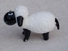 SHEEP ORNAMENT@Glass Ornament@Collectable Gift@Black & White FARM Animal@WOOLLY