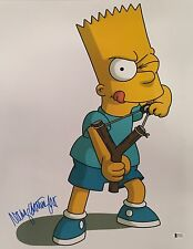 Nancy Cartwright Signed Bart Simpson Metallic 16x20 Photo *Voice Of Bart BAS
