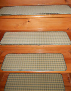 13 = Step 9''x 30'' 1 Landing 29'' x 30'' Tufted carpet Wool Woven Stair Treads.
