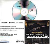 MAXI JAZZ & THE E-TYPE BOYS Mass Destruction 2016 UK 3-trk promo test CD