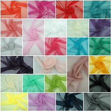 POLYESTER CHIFFON FABRIC - Plain Dress Soft , Bridal & Craft Material 160cm wide