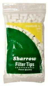 2 x BAGS STANDARD XL EXTRA LONG CIGARETTE FILTER TIPS 8mm  SHARROW  200 Tips bag