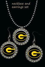 and necklace set great gift Grambling State university earring Earrings