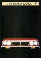 Lancia 1982-83 UK Market Sales Brochure Delta Trevi Coupe HPE Monte Carlo Gamma