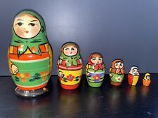 Nesting Doll Hand Made Hand Painted in Russia 4'' Poppies Russian Doll Matreshka