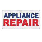 Vinyl Banner Multiple Sizes Appliance Repair Blue Red Business Outdoor photo