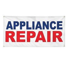 Vinyl Banner Multiple Sizes Appliance Repair Blue Red Business Outdoor
