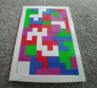 Tetris Like Puzzle Brain IQ Teaser Board Game Jigsaw Puzzle Style 40Pieces