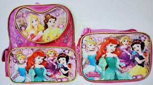 Disney Princess 12 inch Backpack and Lunch Box - Heart