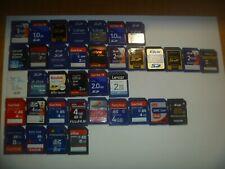 Lot Of (2) Random SD Cards 1GB 2GB 4GB 8GB Choose Size Toshiba Sandisk +