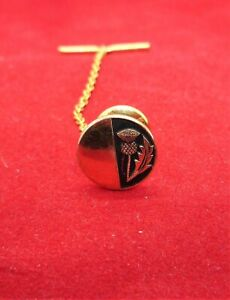 Vintage Gold Plated Scottish Thistle Tie Pie & Chain Men's Fashion