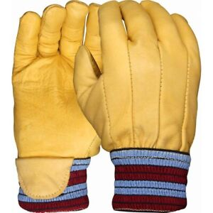10 x UCI GLUD-KW2 Cow Grain Leather Lined Knit Wrist Warm H/D Hardwearing Gloves