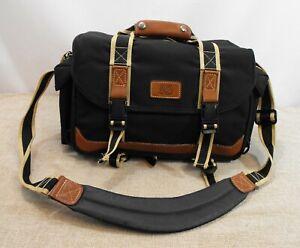 Quality Jessops Camera Bag Multi Compartment Leather Trim - Thames Hospice