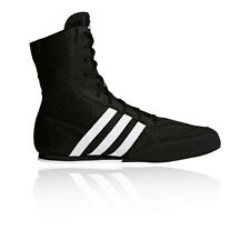 Adidas Box Hog 2 Boxing Boots Mens Black Kids Sports Shoes Trainers Sizes 3.5-14