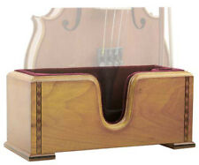 Boston Deluxe Violin Stand with Burgundy Suede Interior